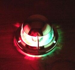 Pactrade Marine Boat Navigational Bow Light Festoon Red And Green Stainless Steel