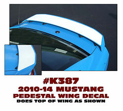 K387 2010-14 Mustang - Pedestal Wing Accent Decal - W11
