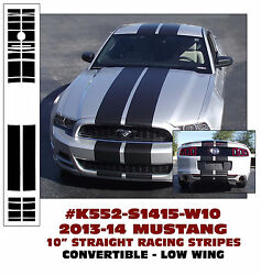 K552 2013-14 Mustang 10 Lemans - Straight Stripes - Convertible - Low Wing
