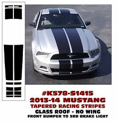 K578 2013-14 Mustang Tapered Lemans Stripes - Glass Roof - No Wing