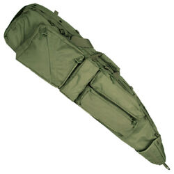 Tactical Rifle Case Sek Padded Gun Bag Backpack Straps Airsoft Shooting Olive Od