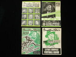 Lot Of 4 Grantland Rice's Cities Service Football Guides 1937,38,39,41 Ex+