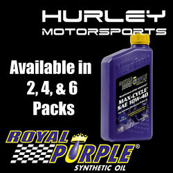 Royal Purple Max-cycle Synthetic Motorcycle Oil 10w-40 - 6 Quarts Case 06315