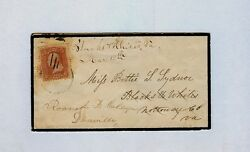 1869 94 - Forwarded Mourning Cover To Roanoke Female College, Danville Virginia