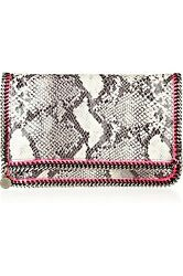 Gorgeous Stella McCartney Falabella Python Fold Over Clutch Neon Pink SOLD OUT!
