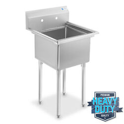 Commercial Stainless Steel Kitchen Utility Sink - 23.5 Wide