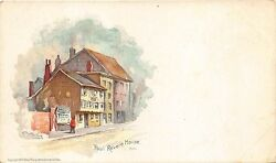 Boston Ma Paul Revere House Private Mailing Card Taber-louis Prang Postcard