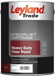 5lt Leyland Trade Heavy Duty Floor Paint Tile Red Grey Green Clear Yellow