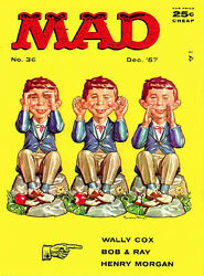 Mad Magazine 36 - December 1957 - Cover Poster
