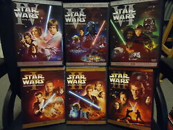 ✅ Star Wars Dvd Trilogy Complete Saga Own All 6 Widescreen Movies + 9 Discs ✅