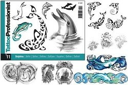 Pro 11 Dolphin Design Flash Book 84-pages Sketch Photo Image Art Tattoo Supply