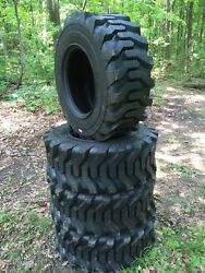 4 Hd 14-17.5 Carlisle Trac Chief Skid Steer Tires -14x17.5-14 Ply-made In Usa