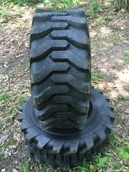 2 HD 14-17.5 Carlisle Trac Chief Skid Steer Tires -14X17.5-14 PLY-Made in USA