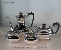 Tea And Coffee Set4 Pc. Gadroon And Shell