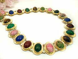 Vintage Jewelry VAN DELL  12 kt Gold Filled Scarab Belt Necklace 30