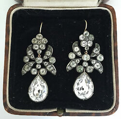 A Magnificent Pair Of Georgian Paste Earrings Circa 1800andrsquos