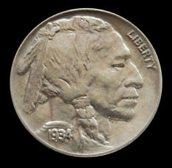 1934 United States Buffalo Nickel Coin Brilliant Uncirculated Condition