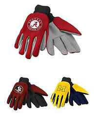Ncaa College Team Logo 2015 Colored Palm Utility Work Gloves - Pick Your Team