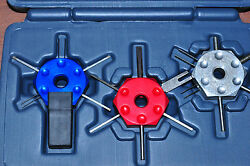 LISLE 3 PCS WIRE TERMINAL TOOL KIT RED BLUE SILVER MADE IN USA