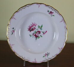 Collectors Cabinet Plate, Hand-painted Delicate Antique Flowers