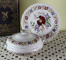 Collectors Cabinet Plate And Entree Dish And Cover, Cornflower By Wedgwood