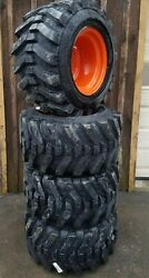 4 31X15.5 15 High Floatation Tires Wheels Solideal Xtra Wall for Bobcat 15quot; wide
