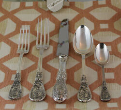 Sterling Silver Flatware 5-pc Place-setting 58- Montpoupon