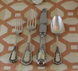 Sterling Silver Flatware 5-pc Place-setting 33- Beaugency