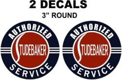 2 Vintage Studebaker Service Decals - Great For Dioramas, Gas, Oil Cans