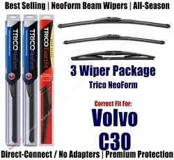 3-pack Wipers Front And Rear Neoform - Fit 2011-2013 Volvo C30 - 162515/2015/14d