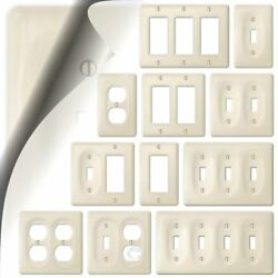 Wall Switch Plate Cover Allena Biscuit Ceramic Outlet Toggle Decora Rocker