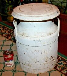 Antique Nj Farms Metal Milk Dairy Container Quality Chekand039d Farms Whitehouse Nj