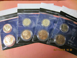 4 X 2015 Presidential One Dollar Coin And First Spouse Medal Sets - Full Set