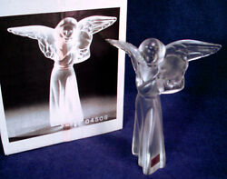 Rare Mint In Box Lladro Lead Crystal Angel Cymbal Figurine Frosted Satin 04508