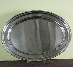 Oval Platter 14 In. With Bead Pattern Applied Border