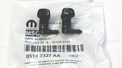 2011-2018 Dodge Charger Windshield Washer Nozzle Pair 5182327-aa Oem