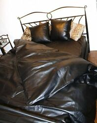 Nappa Leather Bed Sheet With Pillow Cases And Duvet Over 100 Genuine