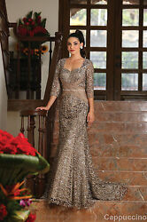 Mother Of The Bride Groom Dress Lace Evening Church 3/4 Sleeves Gown And Plus Size