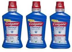 3 Pack Colgate Peroxyl Mouth Sore Mint Rinse 16oz
