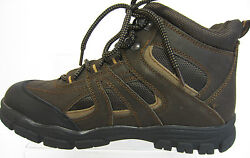 Spot On Mens Hiking/walking Boots Brown Leather A3r032 R10a