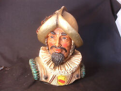 Old Vtg 1967 Universal Statuary Corp. Chicago Conquistador Bust Statue 417