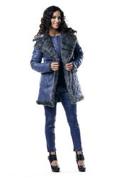 Les Fees Du Vent Couture Crazy Sexy Real Leather Coat Low Quantity