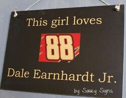 This Girl Loves Dale Earnhardt Jr. Rare Driver Sign Racing Bar Tickets Sprint