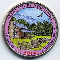 2014 Great Smoky Mountains Colorized America's Beautiful National Parks Quarters