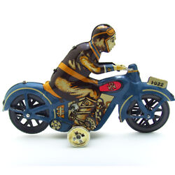 Old Antique Clockwork Tin Toys I-922 Motor W. Driver Windup Toy Collectible