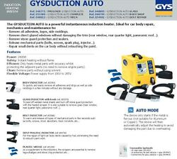 GYS  INDUCTOR HEATER REMOVES ADHESIVE LOGOS SIDE MOULDINGS GLAZED WINDOWS BOLTS