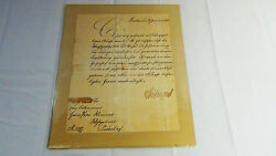 Otto Van Bismark Originally Signed Letter Dated 1882from Private Collection