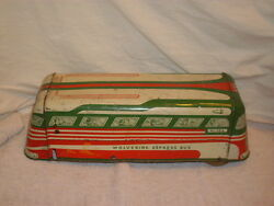 tin litho wolverine express bus 1950 for