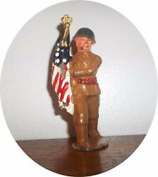 nice soldier marching flag barclay manoil