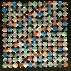 New Set Of 4 Gorgeous Collectible Missoni Home Handmade Mother Of Pearl Placemat